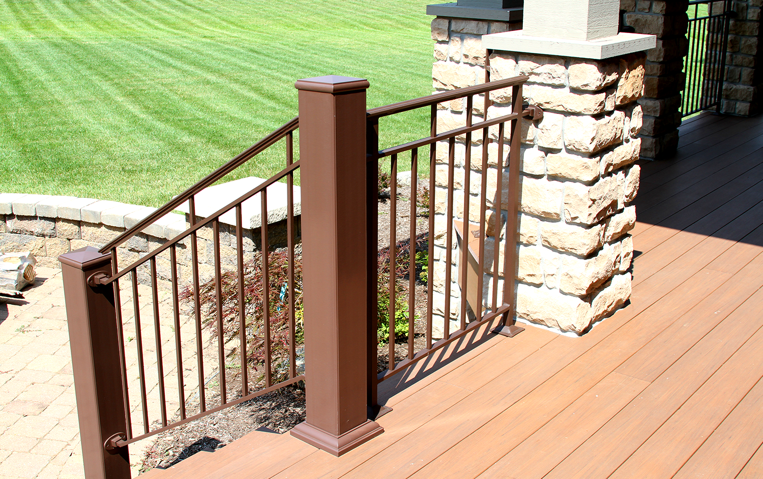 Stair Railing from Deck