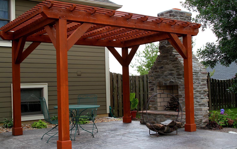 Outdoor Living Back Porch and Pergola