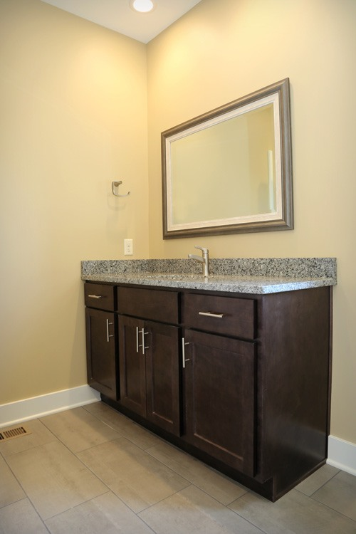 Bathroom vanity with ample counter space